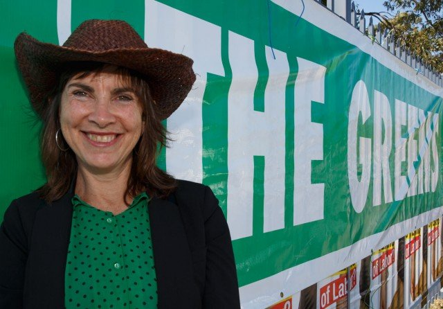 The Greens' Dawn Walker on the hustings as Greens candidate for Richmond during last year's federal election. Photo Eve Jeffery