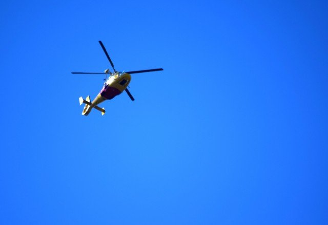 The rescue helicopter is a common sight in the skies over Lismore, either off on a rescue mission, or training. (Darren Coyne)