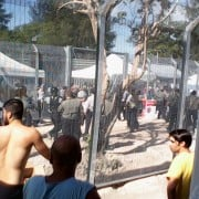 Supplied image taken on Friday, Jan. 16, 2015 of asylum seekers during their hunger strike at the Manus Island detention centre.  Photo Refugee Action Collective