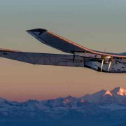 The latest version of the Solar Impulse, a plane that flies on solar power from onboard panels and battery storage.