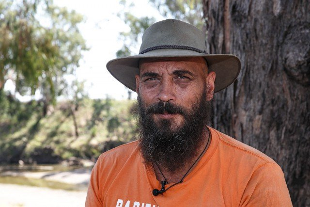 Murray 'Muzz' Drechsler has spent over 1000 days on the front line in and around Maules Creek in the fight against the coalmonster. Photo Tree Faerie.