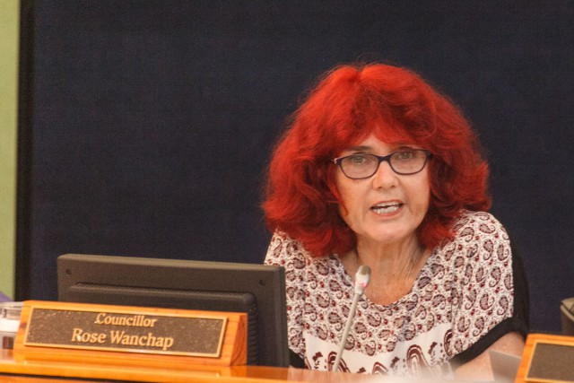 Cr Rose Wanchap during heated debate at last Thursday's  Byron Shire Council meeting. Photo Eve Jeffery
