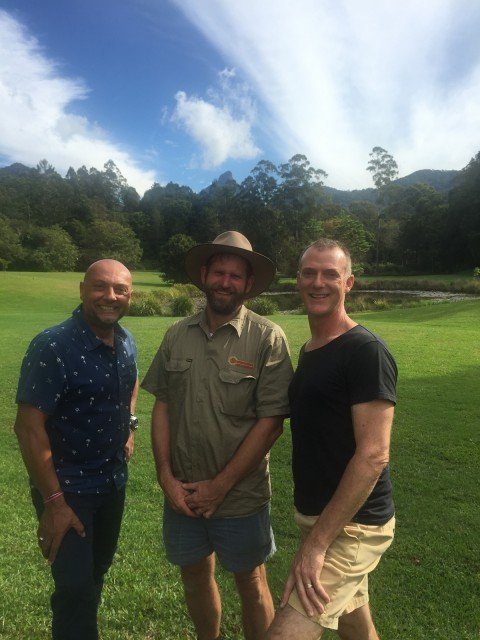 Charlie Ebell (L) and Peter Clarke (R) from Mavis' Kitchen together with Sunbeam Solar's Charlie Ebell. Photo supplied