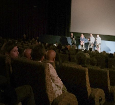 The packed house at Sunday night's Q&A following the premiere of Holding the Man at the Palace Cinema, Byron Bay. Photo Wayne Penn