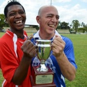African Allstars captain Adeyemi Johnson and Lismore Councillor Gianpiero Battista will compete in the hotly contested African Allstars vs Lismore Legends annual football friendly on 8 October, pitting African refugees against Lismore City Council workers.