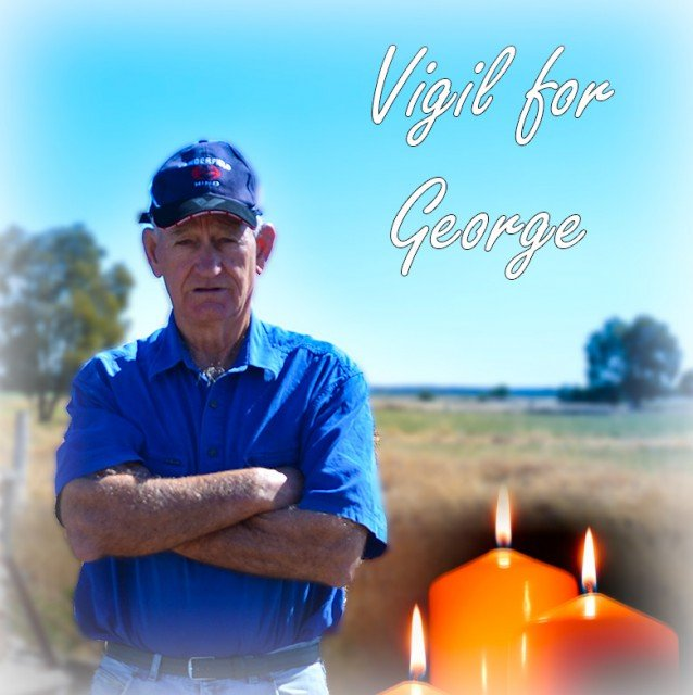 Vigils will be held for George Bender, a Queensland farmer who took his own life after battling against the coal seam gas industry. (Lock the Gate)
