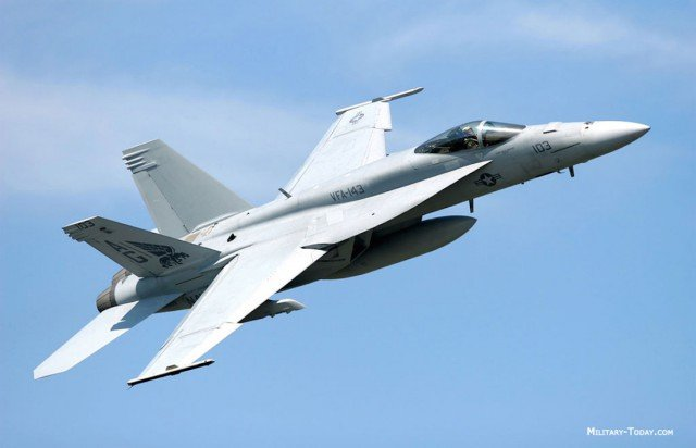 An F-18 Super Hornet, similar to the ones that will buzz the north coast tomorrow. (file pic)
