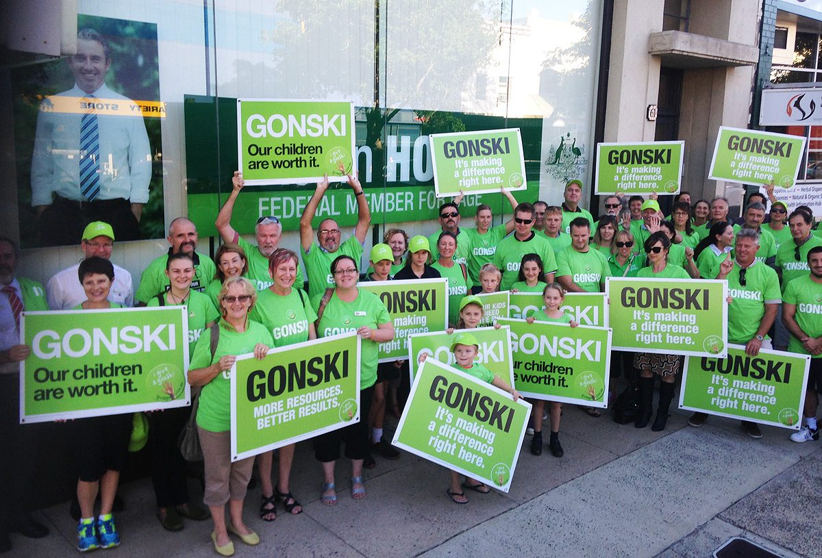 Teachers, parents and students will be calling for Gonski education funding outside Page MP Kevin Hogan's Lismore office today. (Photo contributed)