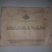 The Soldiers Record of Service book that was found in Nimbin. (supplied)