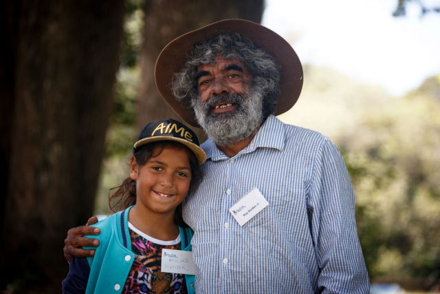 Uncle Roy Gordon with 'senior management', daughter Waylard. Photo Tree Faerie.