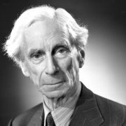 Bertrand Russell, a bloke who liked to use his noggin.