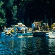 The Franklin River blockade. Photo www.wilderness.org.au