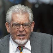Entertainer Rolf Harris arriving for sentencing at Southwark Crown Court in London 2014 file photo