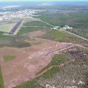 Land clearing near the Evans Head Aerodrome site. (supplied)