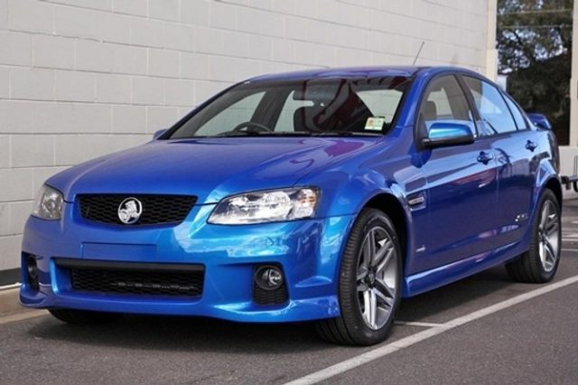 A blue Holden SS Commodore, similar to the one that led police on a 200km/h pursuit at Clothiers Creek on Friday (January 27). File photo