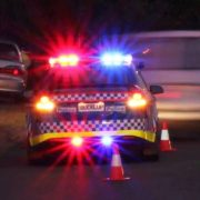 Police have arrested a Queensland man who was doing burn-outs near Corndale.
