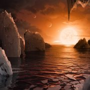 Handout from NASA shows an artist's concept to imagine what it would be like to stand on the surface of the exoplanet TRAPPIST-1f, located in the TRAPPIST-1 system in the constellation Aquarius. EPA/NASA/JPL-Caltech/T. Pyle, IPAC