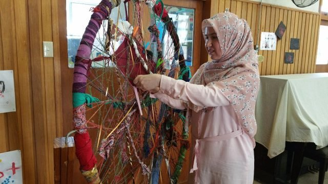 Dr Zuleyha Keskin contributing to the 'Weaving of Our Lives and Cultures Together'. Photo supplied.
