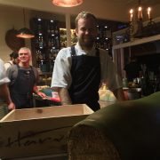 Executive chef Bref Cameron and forager Peter Hardwick of Harvest