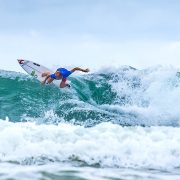 Owen Wright took out the first event of the WSL 2017 tour at the Gold Coast last weekend. Photo Tao Jones