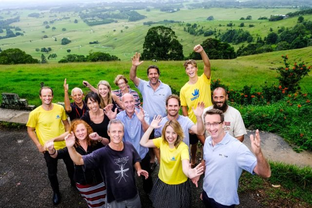 The Enova Energy team, who are on board with a community bulk buy of renewable products. Photo Jeff Dawson
