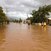 Mullumbimby in flood. Many people are suffering from the inundation of water from Cyclone Debbie. Photo supplied.