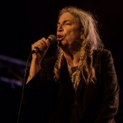 Patti Smith received a standing ovation. (pic Jeff Dawson)