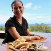 Jo Maiden with the Antipasto board