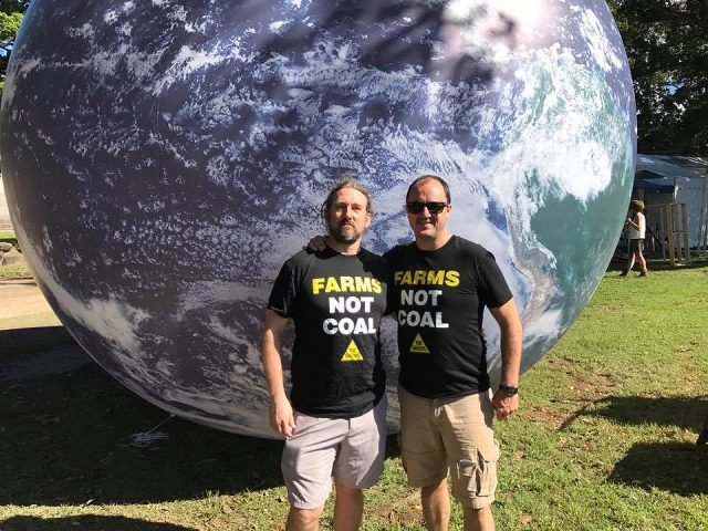 The Greens will have their Giant Earth Ball on display at the Caldera Environment Centre's 2017 World Environment Day Festival. Photo supplied