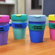 Lismore council's new reusable coffee cup range. Photo supplied
