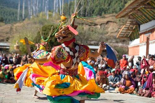Traditional celebrations in Bhutan. Photo Lara McKinley.