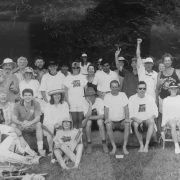 The Geckos lost the first Nick Shand Memorial Cricket Match on March 2, 1997. Photo Jeff 'howszat' Dawson