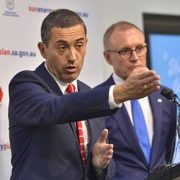 SA Energy Minister Tom Koutsantonis (L) and Premier Jay Weatherill. Photo RenewEconomy