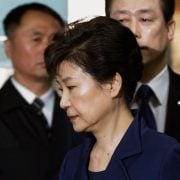Choi Kyung-hee, former president of Ewha Womans University, arrives at a court in Seoul, South Korea, 23 June 2017. She was sentenced to two years in prison for giving special favors to Chung Yoo-ra in the admissions process and for giving her academic favors. Chung is the daughter of Choi Soon-sil, a close associate of impeached South Korean former President Park Geun-hye. Choi was sentenced to three years on charges that she peddled influence for her daughter, the first sentencing in a case related to Choi's vast array of corruption allegations. EPA/YONHAP SOUTH KOREA