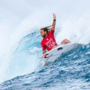 Wilkinson is the World Title leader after dominating at Cloudbreak. Photo Sloane/WSL