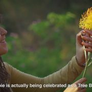 Body artist celebrates tree day