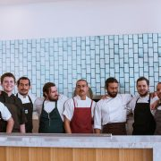 Executive Chef Simon Jones (far right) with some of his 24 Chefs_photo Daniel Witchey
