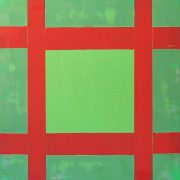 MAGINS-Green-And-Red-Oil-on-Linen,2017-61-x-61-cm
