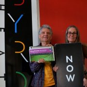 They're hot. 'Infrastructure for Byron Community Centre, the Theatre and Liberation Larder – all successful grants we've won'. Grant Writing tutors, Jim Beatson and Cherie Bromley are taking enrolments now.  Photo supplied.
