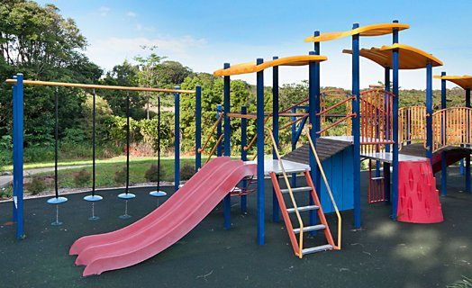 The children's playground located at the Ballina Heights sports field.